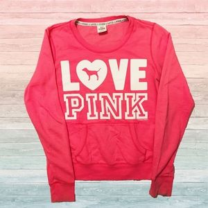 Pink Love Pink Dog Pocket Graphic Tee Sweatshirt